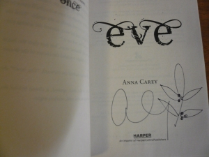 Signed-Eve-Anna Carey 2