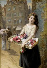 Augustus Edwin Mulready - A street flower seller
